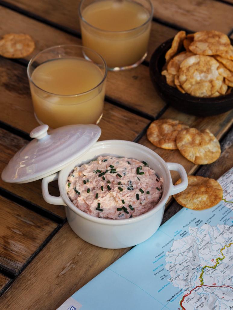 Rillettes de saumon au fromage frais et ciboulette