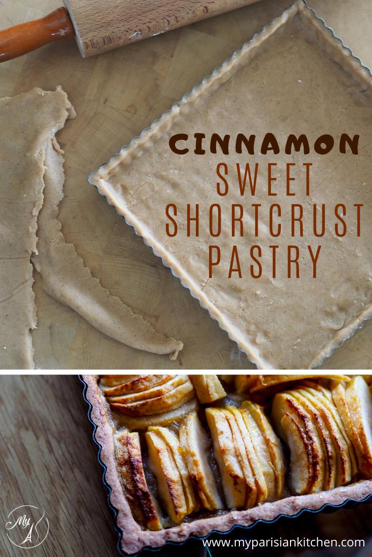 Cinnamon sweet shortcrust pastry