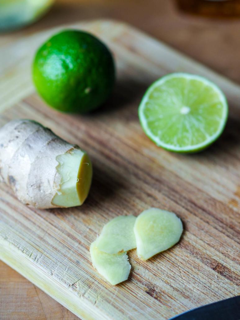 citron vert et gingembre bio