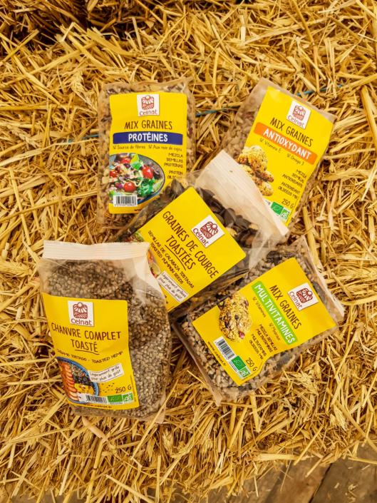 graines et mix de graines bio celnat