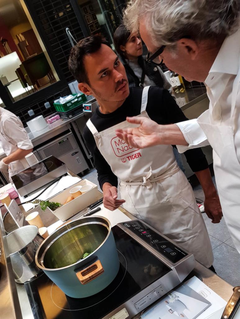 chef alain passard et herve cuisine atelier maho nabe