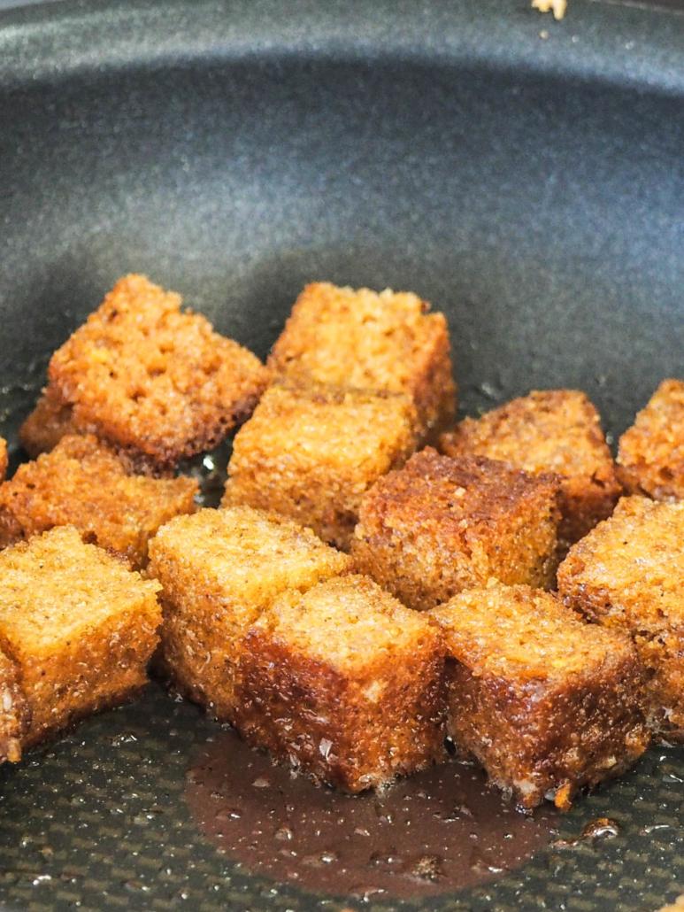 pain d'épices poêlé et caramélisé au beurre salé