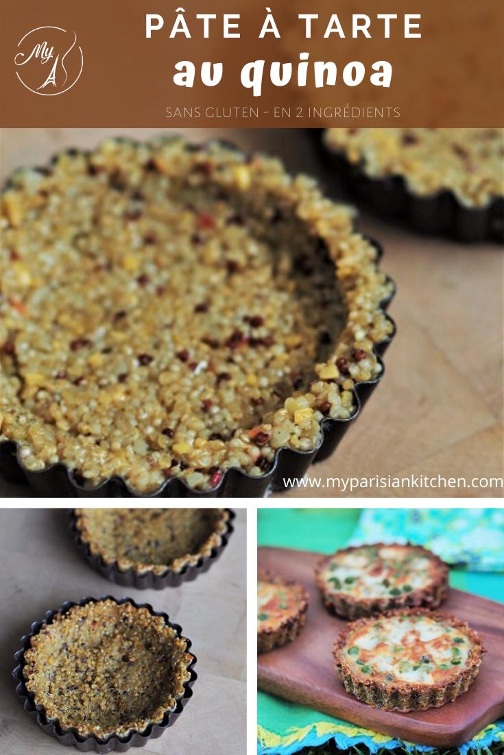 pâte à tarte au quinoa (2 ingrédients, sans gluten)