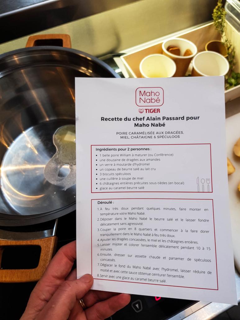 recette du chef alain passard pour maho nabe