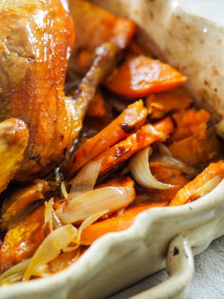 patate douce caramélisées rôties au four