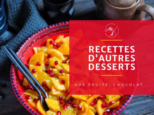 recettes de desserts du blog culinaire My Parisian Kitchen