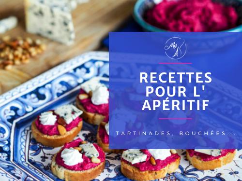 recettes pour l'apéritif, bouchées, dips, tartinades, verrines... du blog culinaire My Parisian Kitchen