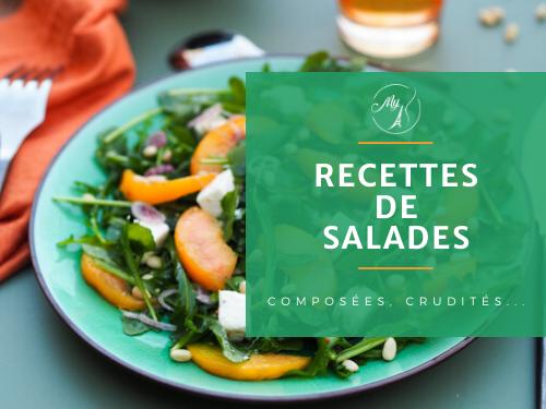 Recettes de salades composées et crudités du blog culinaire My Parisian Kitchen