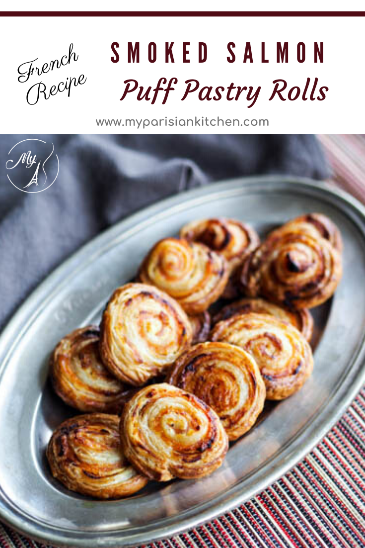 Smoked Salmon Puff Pastry Rolls for appetizer