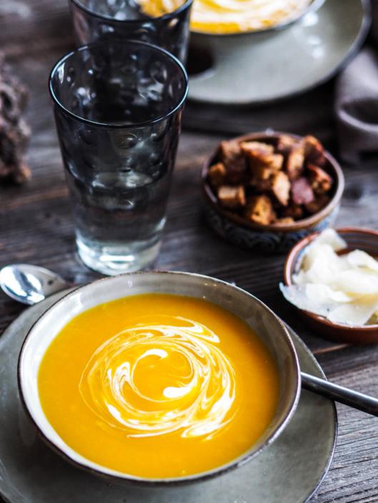soupe de cucurbitacées, plat hivernal