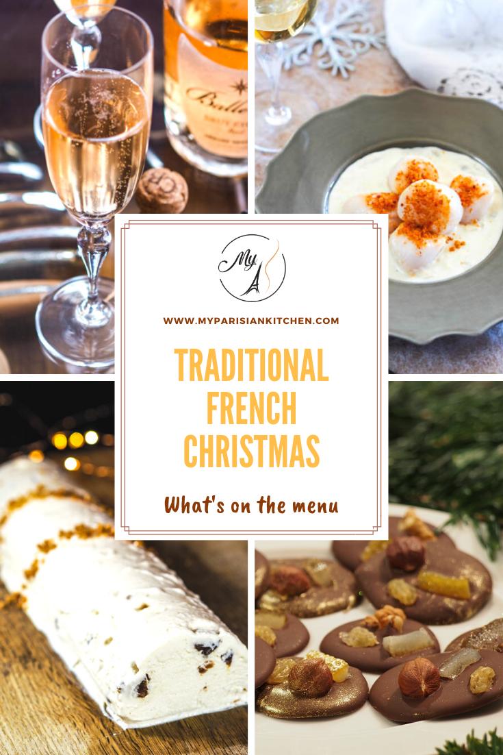 Traditional French Christmas menu