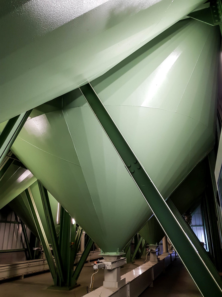 silos de stockage de céréales bio celnat