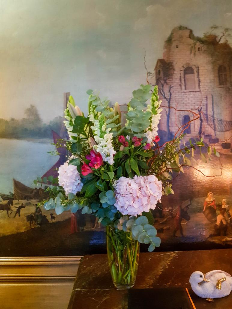 bouquet de fleur à la Tour d'Argent