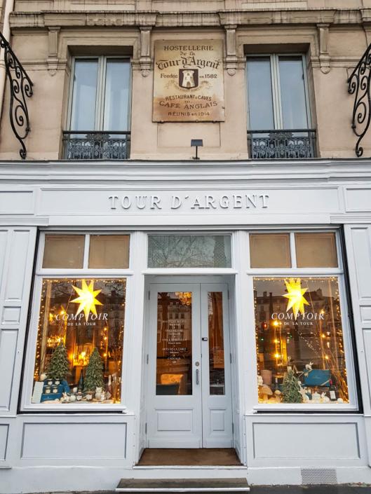 boutique du restaurant étoilé de Paris la Tour d'Argent