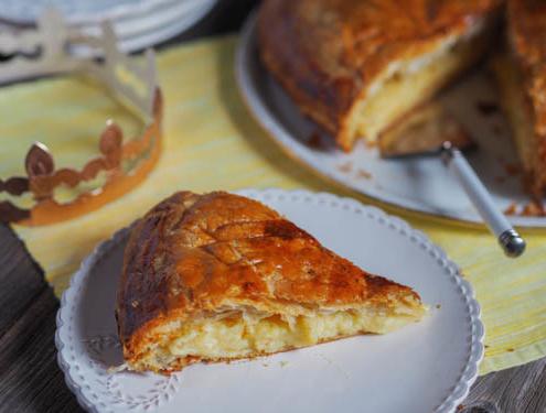 French galette des rois Epiphany king cake with lemon filling