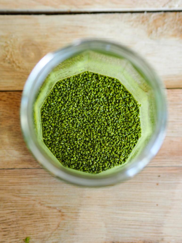 graines de chia au thé vert matcha