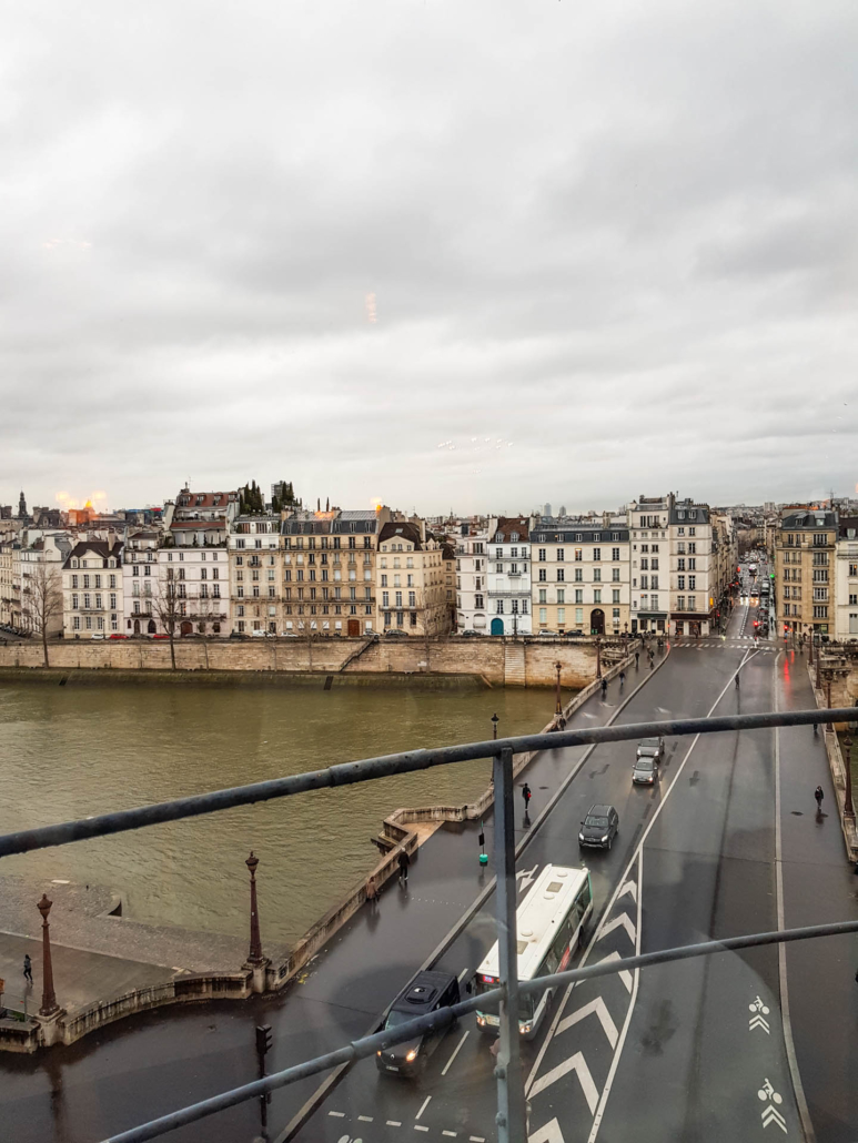 vue sur la seine et les ponts de Paris