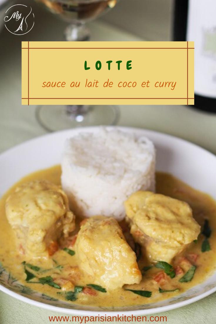 Lotte sauce au curry et au lait de coco