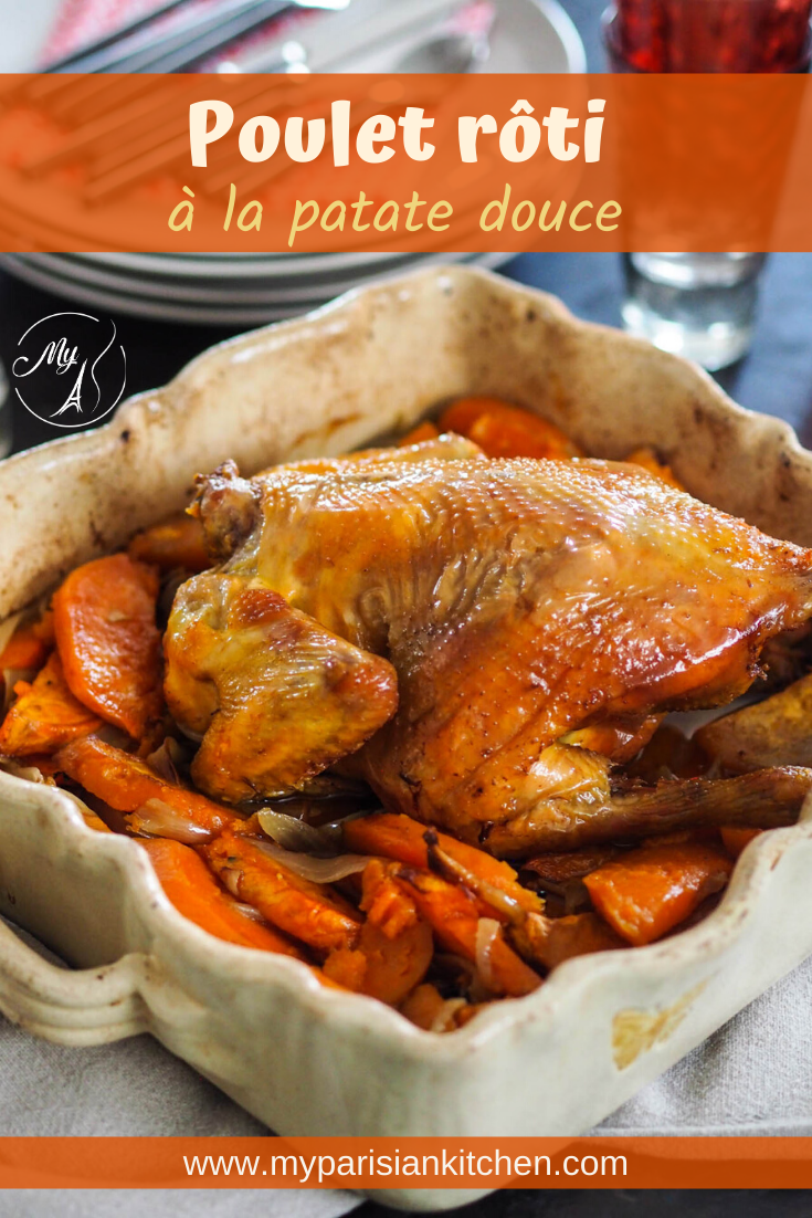 Poulet rôti du dimanche à la patate douce
