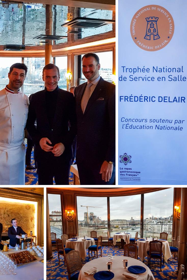 lancement du trophée Frédéric Delair du service en salle à la Tour d'Argent