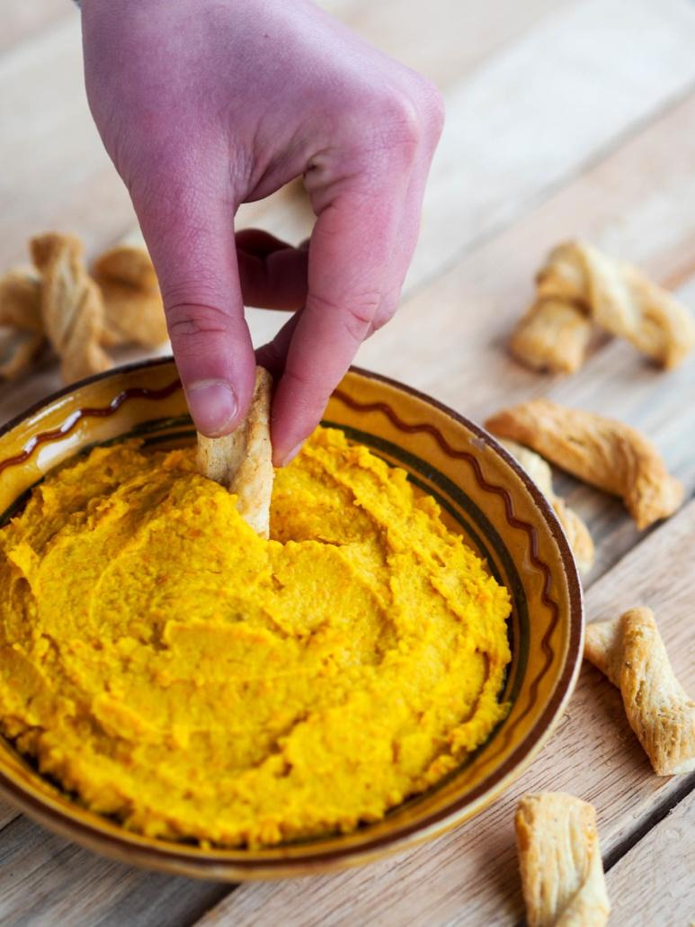 dip houmous carotte aux épices