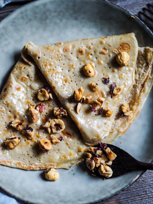 Pâte à crêtes au lait végétal sans lactose ni matière grasse, noisettes torréfiées