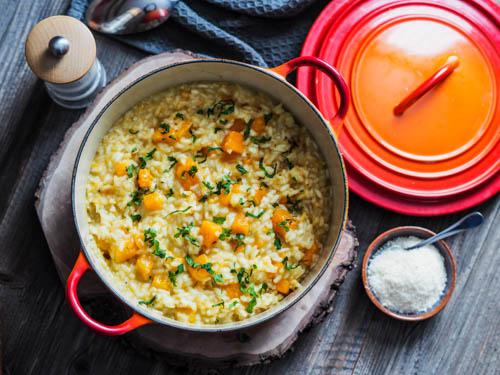 risotto crémeux à la courge butternut et au parmesan