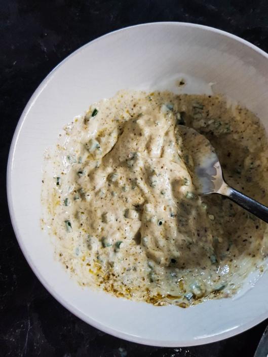 sauce fromage blanc moutarde et ciboulette