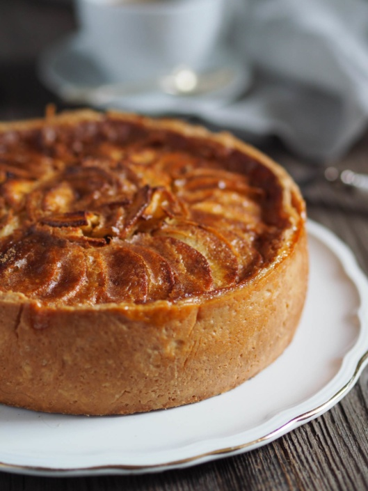 generous apple tart from French Normandy