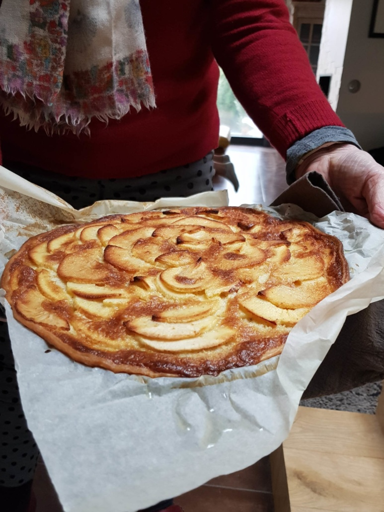 apple tart offered by grand-mother