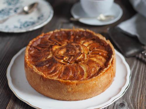 generous apple tart with norman cream filling