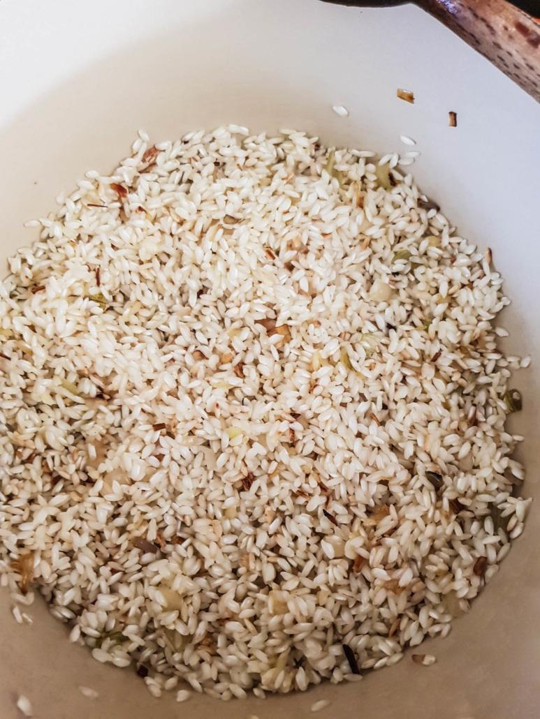 riz du risotto devient translucide