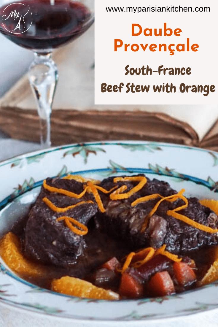 South France daube provençale beef stew
