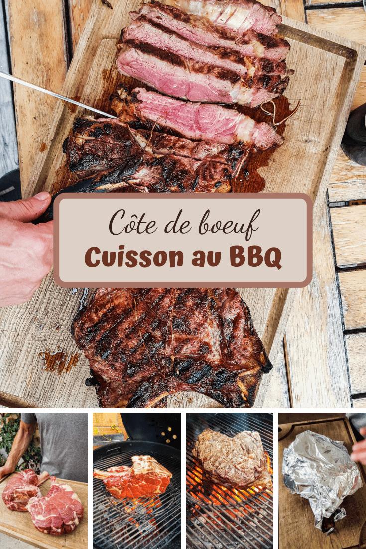 cuisson parfaitement maîtrisée de la côte de bœuf au barbecue