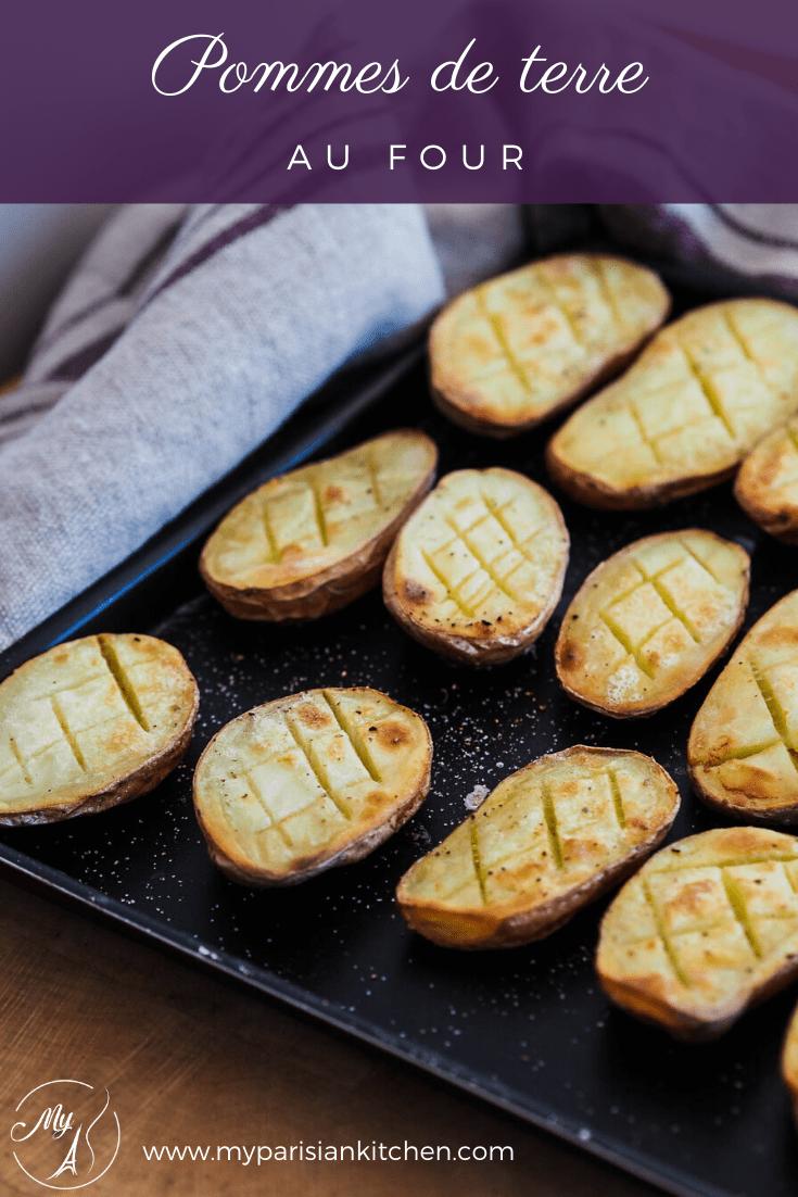 pommes de terre croisillons et noix de beurre rôties au four