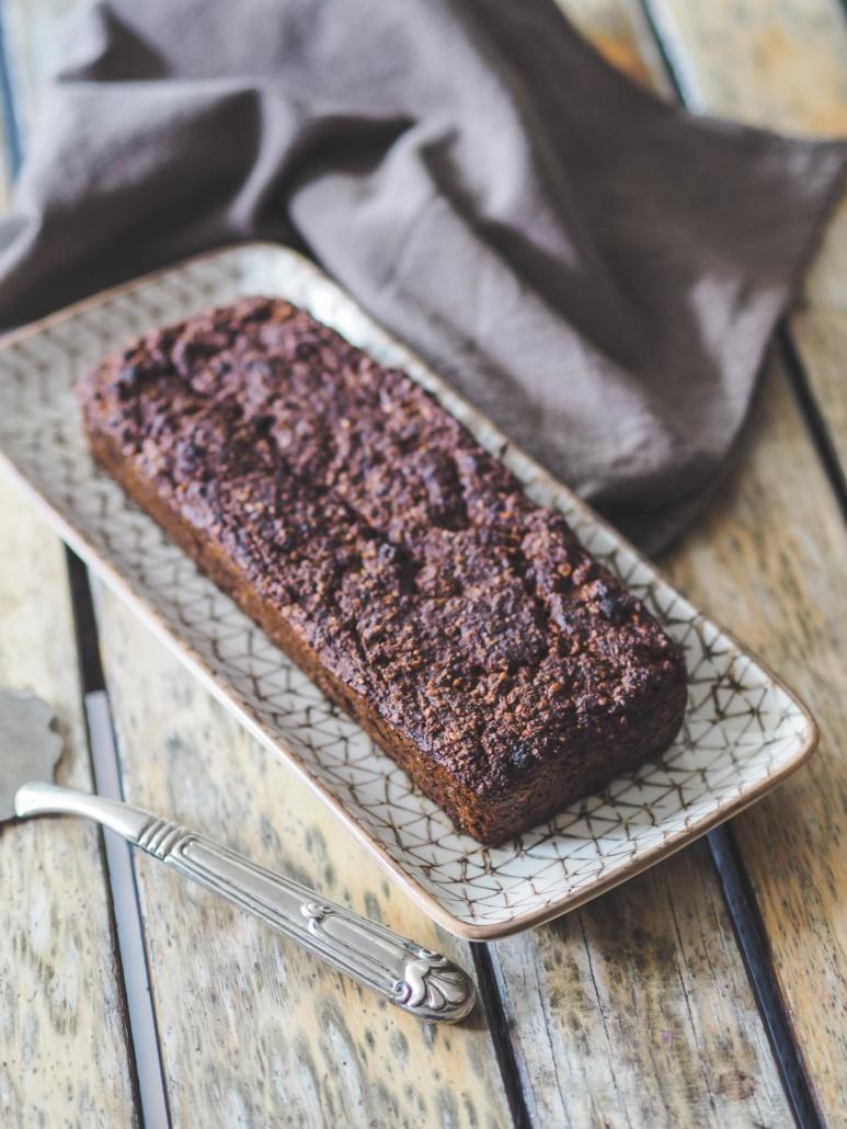 gâteau aux saveurs gourmandes pour le petit-déjeuner, sans gluten, no beurre