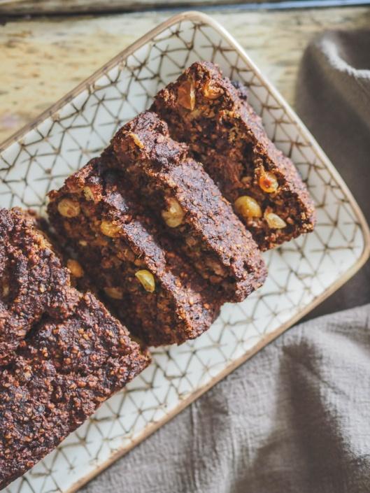 cake aux raisins secs très parfumés sans matière grasse