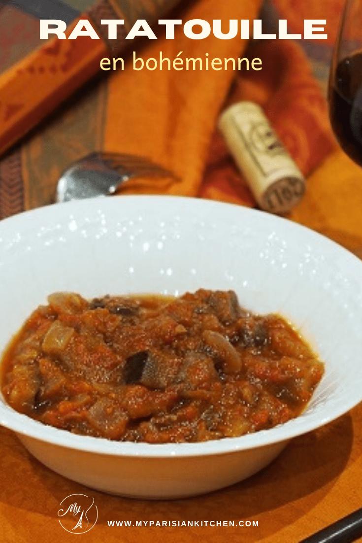 ratatouille en bohémienne, aubergines et tomates
