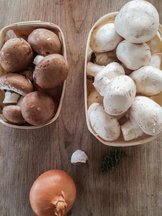 champignons de Paris blanc et brun