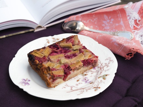 rhubarb and red fruit French clafoutis