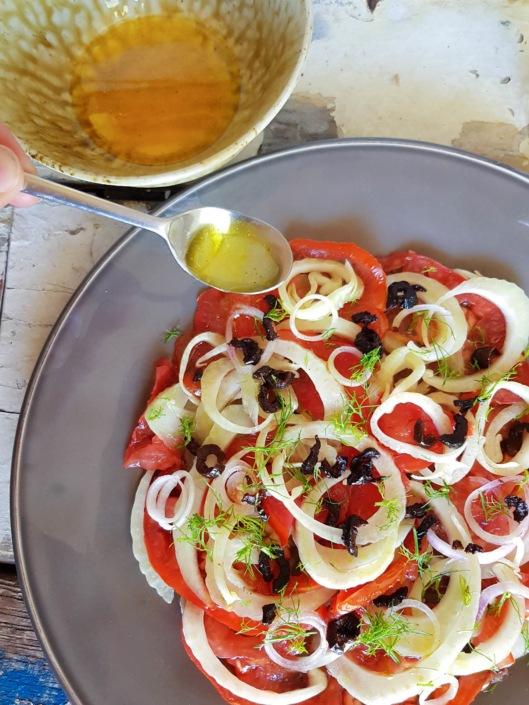vinaigrette anisée au Pastis et huile d'olive
