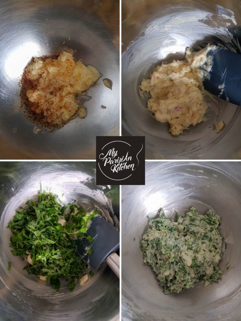 how to make Frencf herb compound butter step by step