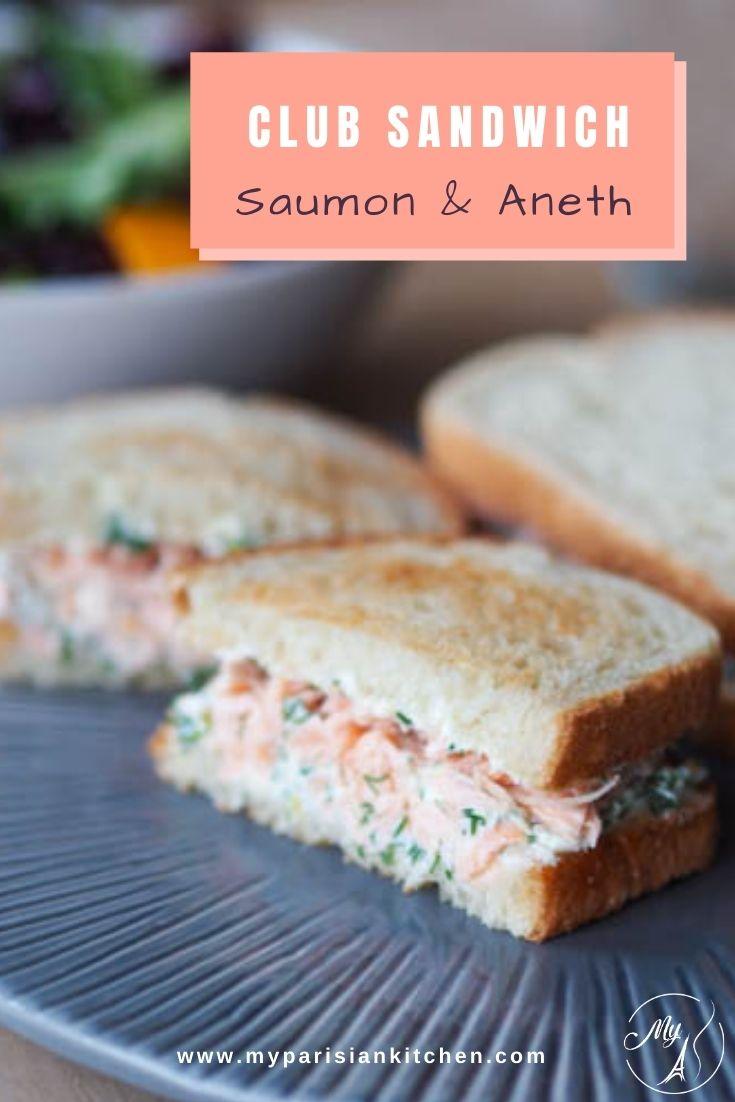 clun sandwich au saumon, fromage frais et à l'aneth