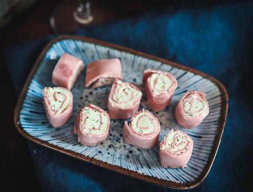 Boursin cheese and Ham Rolls