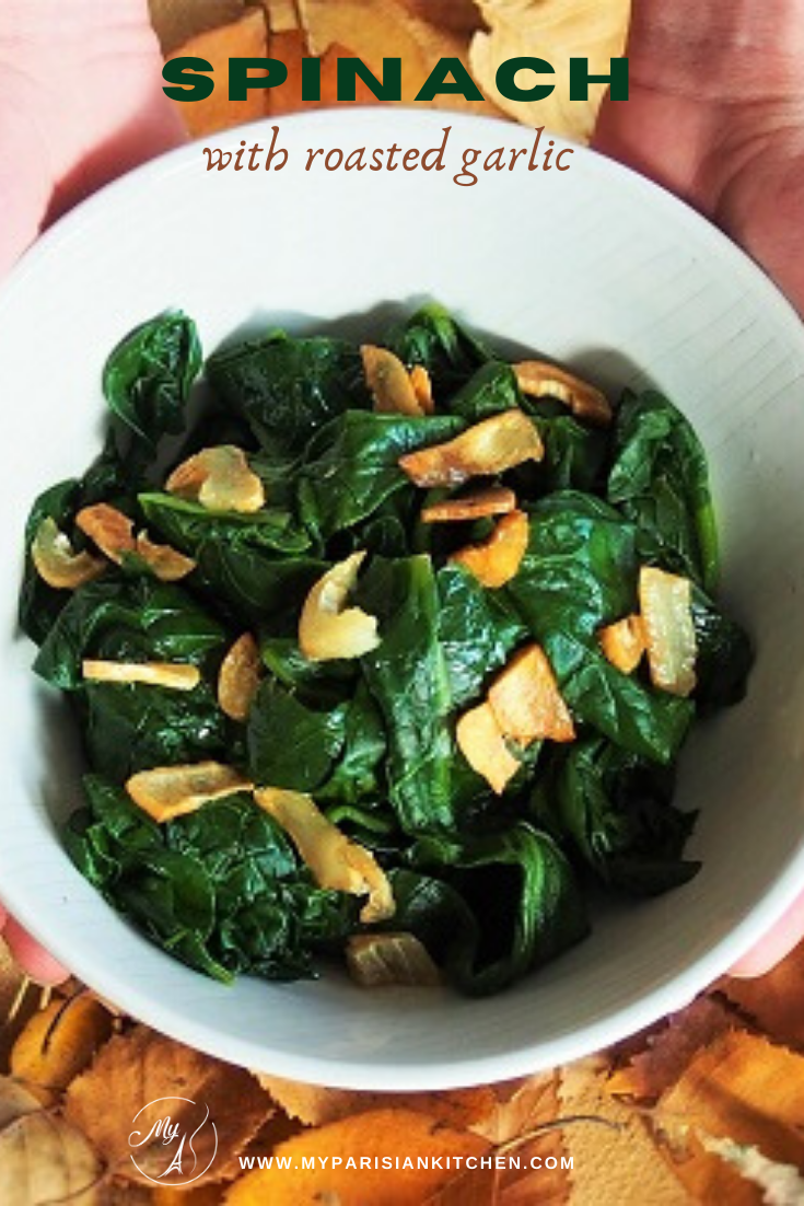 spinach with roast garlic healthy and flavorful side