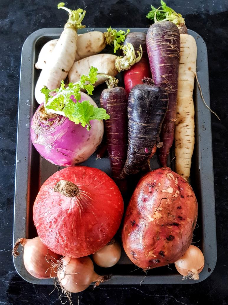 légumes d'hiver en accompagnement