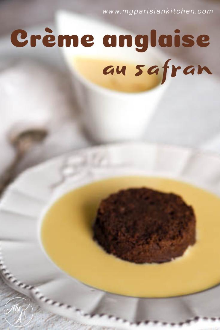 crème anglaise uktra gourmande au safran