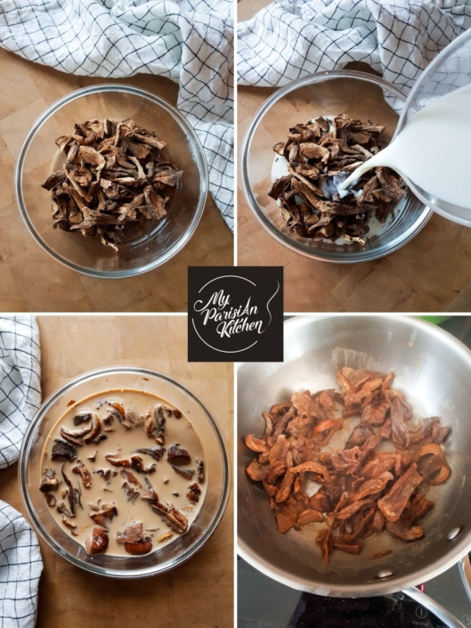 How to rehydrate dried ceps