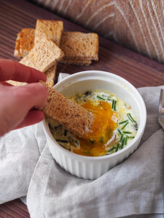 dig egg yolk in egg yolk