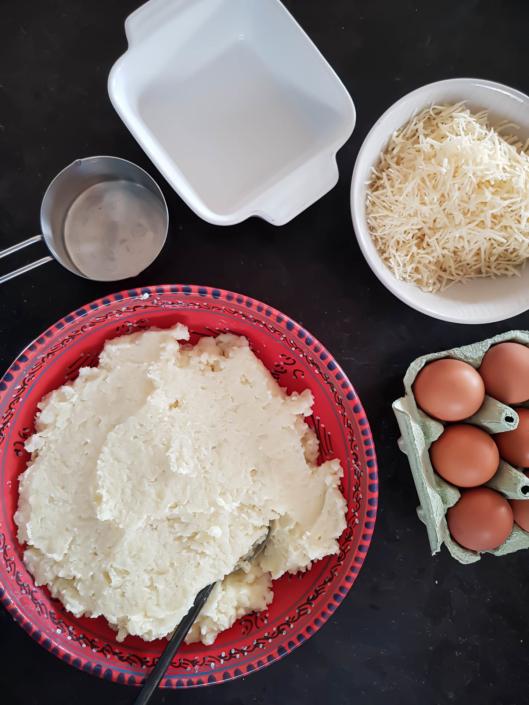 mashed potatoes gratin French style